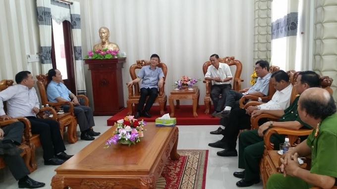 Bộ trưởng Bộ Tư pháp Lê Thành Long làm việc với huyện ủy, UBND và các sở ban nghành tại huyện U Minh Thượng (Kiên Giang).