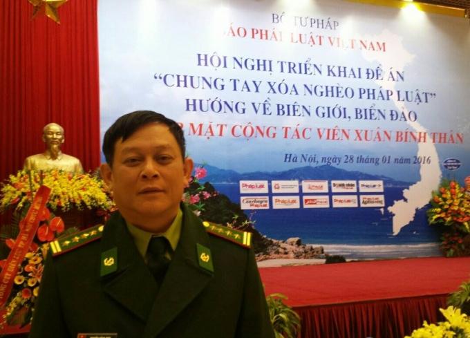 Đại tá Nguyễn Hồng Thái- Phó Tổng biên tập báo Biên phòng.