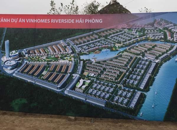 Phối cảnh toàn bộ khu đô thị phức hợp Vinhomes Riverside.