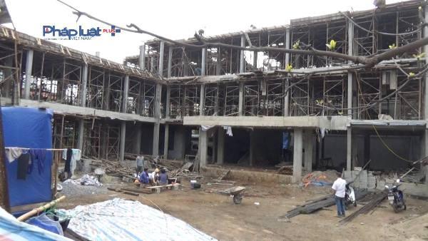 Công trình Trường mầm non Hoa Hồng thi công sau mới tổ chức đấu thầu.