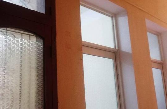 Tấm biển ghi chức danh của bà Trần Vũ Quỳnh Anh trên tầng 5 Sở Xây dựng tỉnh Thanh Hóa đã không còn (ảnh chụp ngày 10/3)