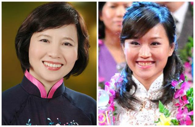 Thứ trưởng Hồ Thị Kim Thoa (trái) và con gái Nguyễn Thái Nga - Phó Tổng giám đốc Bóng đèn Điện Quang.