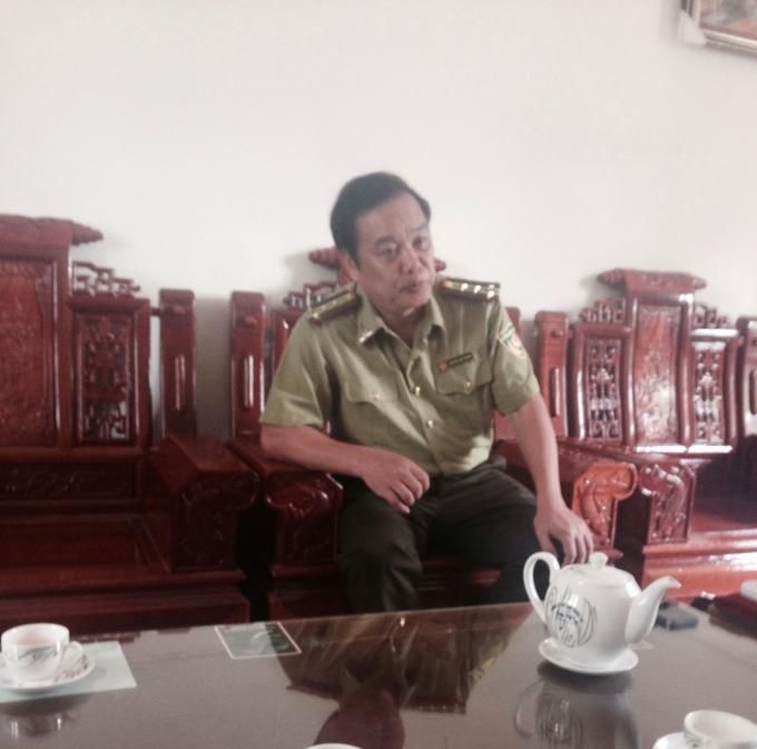 Chi cục trưởng Chi cục kiểm lâm Bắc Kạn Nguyễn Hữu Thắng:
