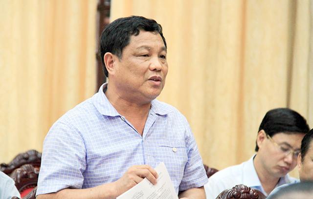 Ông Trần Quang Cảnh - Chủ nhiệm Ủy ban Kiểm tra Thành ủy Hà Nội phát biểu tại hội trường