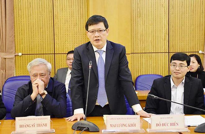 Ông Mai Lương Khôi hứa sẽ toàn tâm toàn lực, tiếp tục phấn đấu để đưa công tác THADS đạt được những thành tích mới.