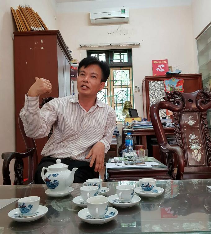 Ông Lê Văn Dịu - Chủ tịch UBND xã Quảng Phú Cầu: