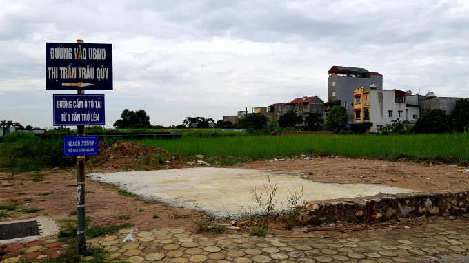 Khu đất hiện đang bỏ hoang.