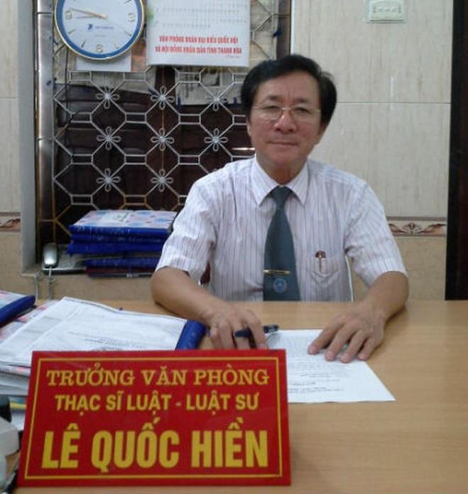 Luật sư Lê Quốc Hiền.