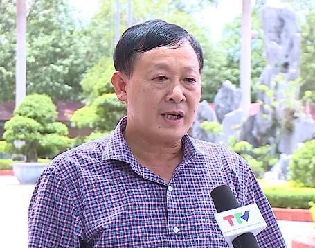 Ông Mai Khả Hằng, PCT UBND huyện Quảng Xương bị luật sư Hiền tố cáo. (Ảnh Đài TH Thanh Hóa)