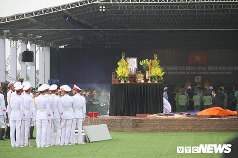 Khu vực an táng Chủ tịch nước Trần Đại Quang (ảnh: VTCNews).