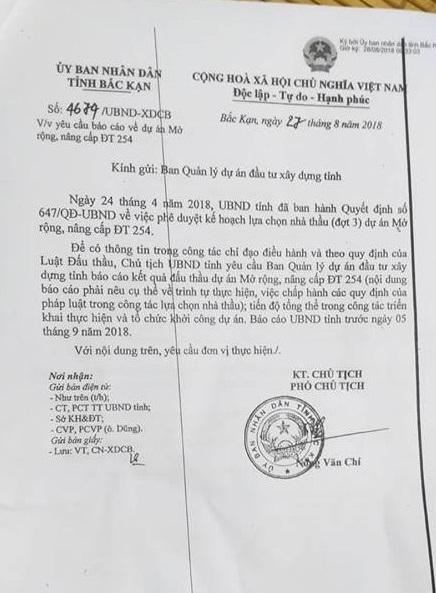 Trước những nghi vấn thông thầu tại gói thầu 19;20, Phó chủ tịch UBND tỉnh Nông Văn Chí yêu cầu báo cáo làm rõ.