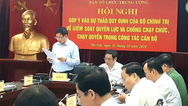 Phó Ban Tổ chức TƯ Trần Văn Túy.