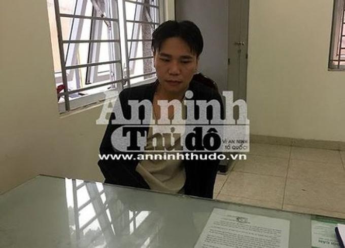 Châu Việt Cường thời điểm mới bị đưa về cơ quan Công an.