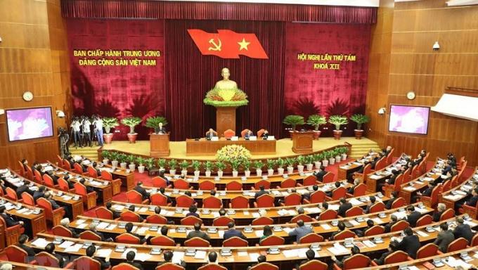 Toàn cảnh Hội nghị TƯ 8 khóa XII.