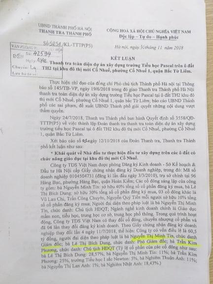 Thanh tra TP Hà Nội kết luận hàng loạt sai phạm của Trường Newton. Tuy nhiên đến thời điểm này những sai phạm vẫn chưa được xử lý.