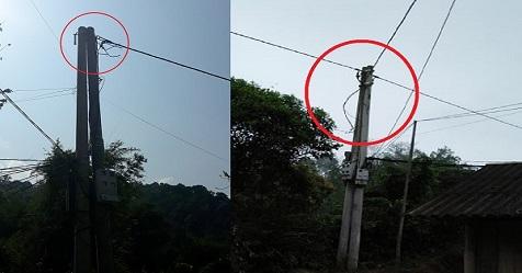 Hàng ngày, người dân thôn Pác Cáp phải sống trong khổ cực khi phải sử dụng điện như đèn đom đóm.