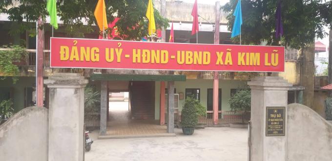 UBND xã Kim Lũ đã buông lỏng quản lý cho tình trạng vi phạm trật tự xây dựng.