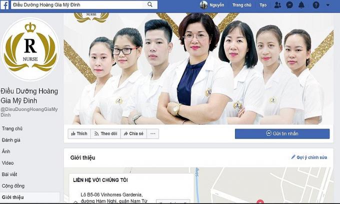 Cơ sở Điều dưỡng Hoàng Gia có địa chỉ tại B5-06 Vinhome Gardenia, đường Hàm Nghi, Cầu Diễn, Nam Từ Liêm, TP Hà Nội.