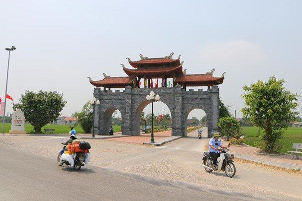 Cổng làng Thượng Yên, một trong những cổng làng đẹp nhất tỉnh Nghệ An.