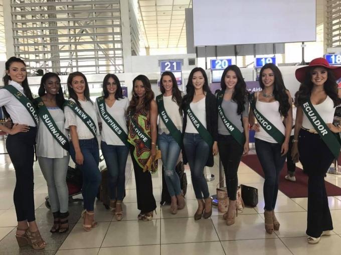 Nam Em cũng cùng với 9 thí sinh khác tham gia vào hoạt động đầu tiên của cuộc thi Hoa hậu Trái đất (Miss Earth 2016).