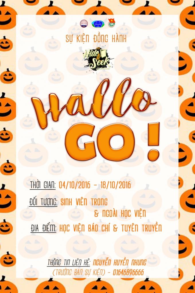 Poster Sự kiện đồng hành Hallo Go.