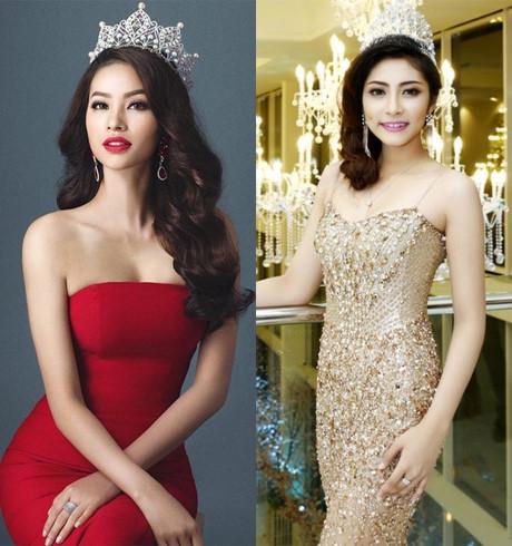 2 hoa hậu đương nhiệm có kinh nghiệm thi quốc tế là Phạm Hương và Đặng Thu Thảo đều không góp mặt trong bất cứ cuộc thi nhan sắc nào trong năm nay.