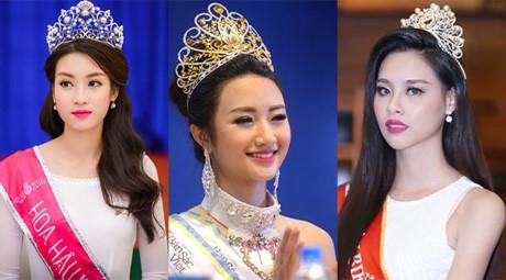 Hoa hậu Mỹ Linh, Thu Ngân và Thùy Trang đều tuyên bố sẵn sàng thi quốc tế nhưng cả 3 người đẹp này đều chưa có cơ hội thử sức bản thân.