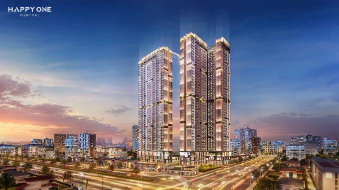 Khu phức hợp căn hộ thông minh trung tâm TP Thủ Dầu Một Happy One – Central.