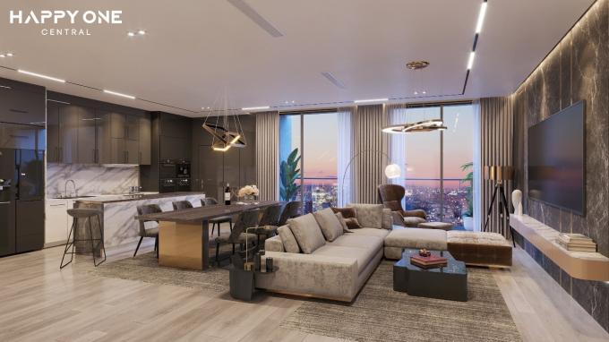 Khu căn hộ Happy One - Central sử dụng nhiều trang thiết bị nội thất cao cấp từ các thương hiệu nổi tiếng.