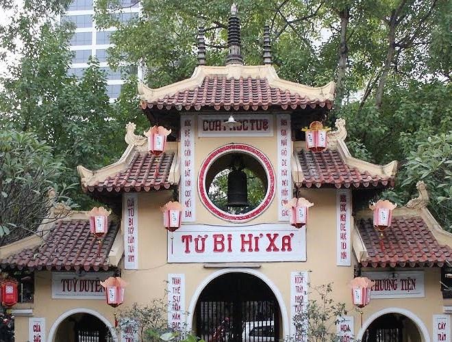 Chùa Quán Sứ không chỉ là ngôi chùa linh thiêng, thanh tịnh mà đây còn là trụ sở của Trung tâm Giáo hội Phật giáo Việt Nam.