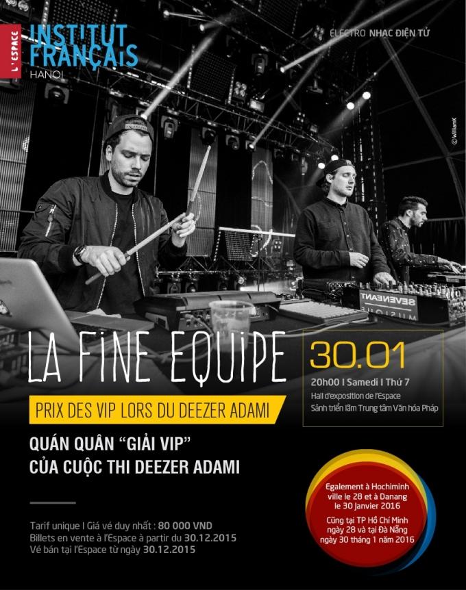 Nhóm nhạc Pháp La Fine Equipe sắp đến Việt Nam biểu diễn
