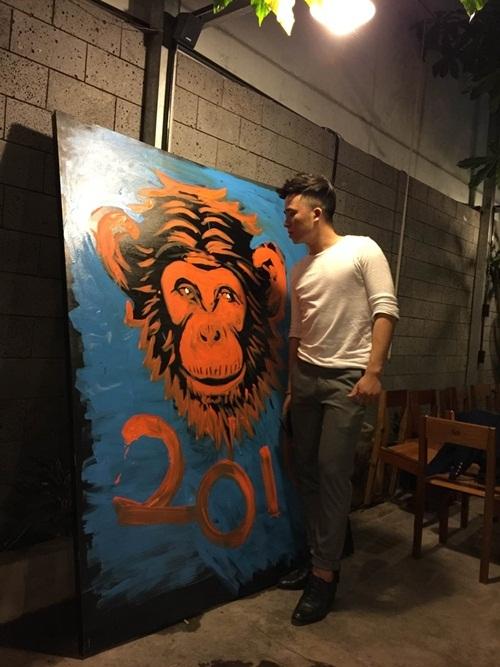 Bức tranh khỉ của Phạm Hồng Minh.