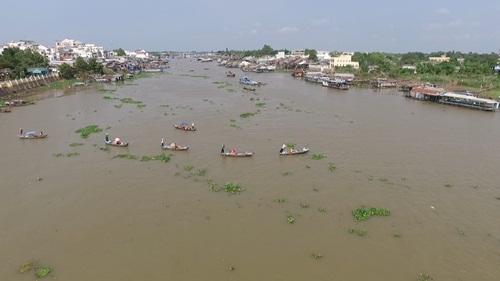 Tham quan cảnh sinh hoạt trên sông nước của người dân.