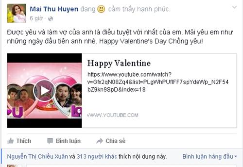 Nữ diễn viên Mai Thu Huyền khiến nhiều người ghen tỵ với lời chúc và món quà đặc biệt mà cô dành tặng cho chồng: