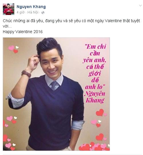 MC Nguyên Khang gửi lời chúc trong ngày Valentine 14/1: