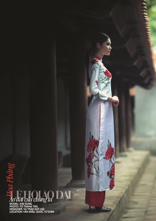 Hoa phăng thể hiện sự ái mộ, quyến rũ sẽ được NSND Kim Tiến thể hiện qua thiết kế của Đức Hải.