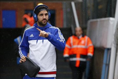 Cesc Fabegas sẽ có mặt trong đội hình xuất phát của The Blue
