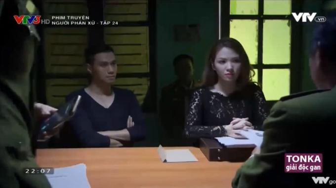 Diễm My trong vai trò luật sư khi giúp chồng tại ngoại.(Nguồn ảnh: cắt từ phim Người phán xử)