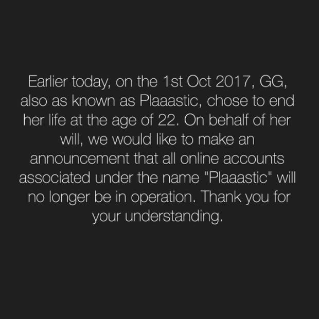 Bài đăng của Plaaastic trên Instagram.