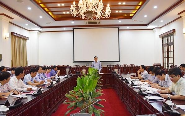 Bộ trưởng Bộ Tư pháp Lê Thành Long phát biểu tại buổi làm việc. Nguồn ảnh: Internet