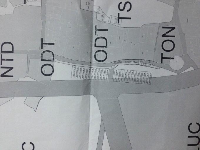 Bảnđồ quy hoạch thể hện rõ các thửa, lôđất đã được cấp giấy CNđang nằmđè lên dựán.