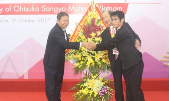 Nhà máy Ohtsuka Sangyo Material Việt Nam có mức vốnđầu tưhơn 4,4 triệu USD, chuyên sản xuất, gia công, lắp ráp tấm lót ghế và vỏ ghếô tô, với công suất 6 triệu sản phẩm/năm