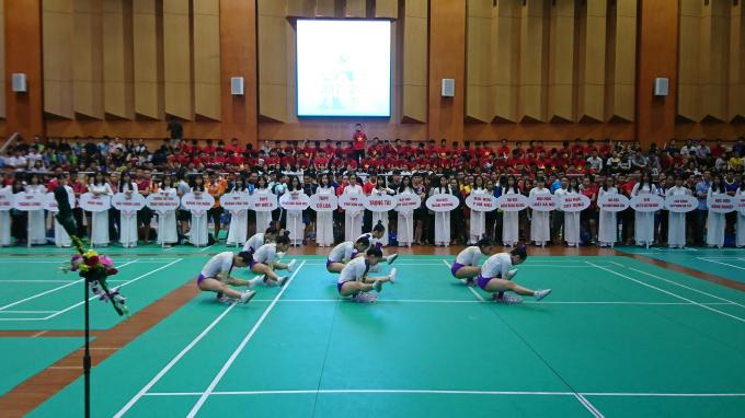 Khai mạc Giải Cầu lông học sinh – sinh viên TP Hà Nội tranh Cúp báo Tuổi trẻ Thủ đô