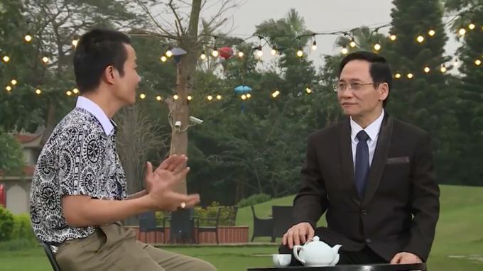 Chuyên gia Nguyễn Quang Minh và Nhạc sĩ Nguyễn Vĩnh Tiến trong chương trình