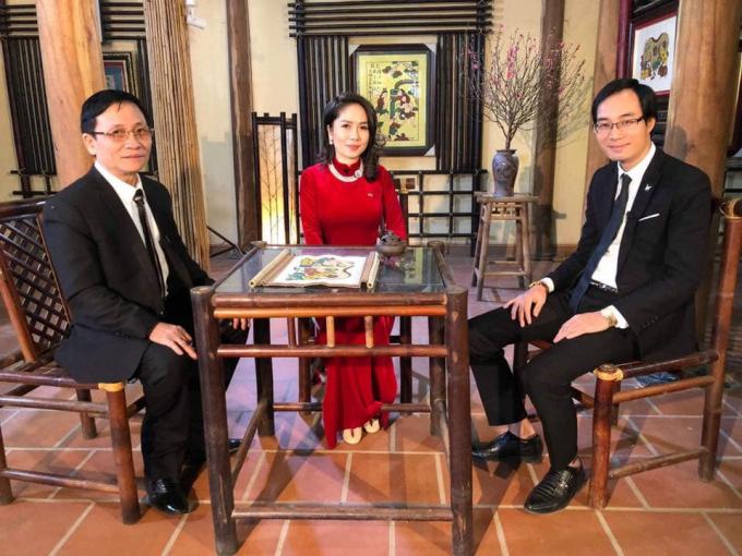 Nhà nghiên cứu Nguyễn Quang Minh (bên trái) và đạo diễn Ngô Hương Giang trong một chương trình truyền hình