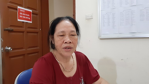 Bà Phùng Thị Thu làm việc với tòa soạn Pháp luật Plus