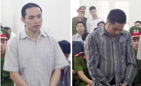 Hai bị cáo tại HĐXX