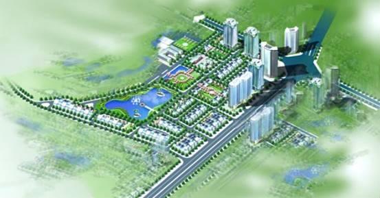 Phối cảnh khu đô thị mới Xuân Phương