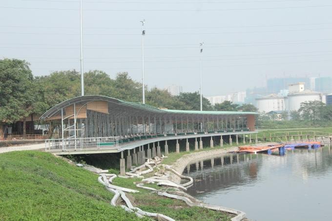 Công trình được xây dựng với quy mô rộng hàng nghìn m2.