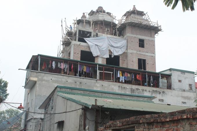 Công trình vi phạm được UBND phường Cổ Nhuế 2 tiếp tay, bao che.